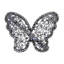 Bridal Wedding Prom Vintage Crystal Butterfly Barrette Hair Clip Grip Jewelry