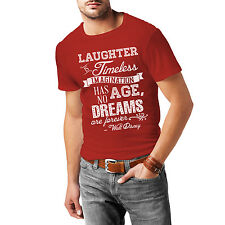 Red Laughter is Timeless Walt Disney Quote Mens Cotton Blend T-Shirt XS-3XL All-