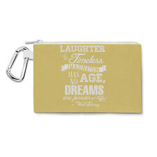 Yellow Laughter is Timeless Walt Disney Quote Canvas Zip Pouch - Pencil Case Mul