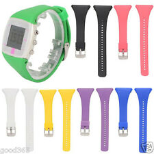 New Genuine Soft Silicone Rubber Watch Band Wrist Strap For POLAR FT4 FT7 Watch