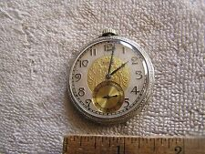 Antique Elgin Pocket Watch Art Deco Dial 17 Jewels 14kt Gold Filled