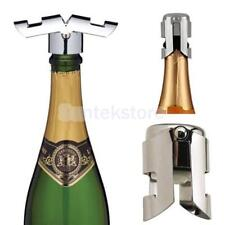 Stainless Steel Vacuum Sparkling Sealer Wine Storage Bottle Stopper Plug Cap
