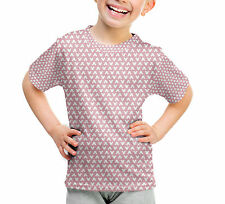 Mouse Ears Polka Dots Pink Kids Cotton Blend T-Shirt Unisex Sublimation All-Over
