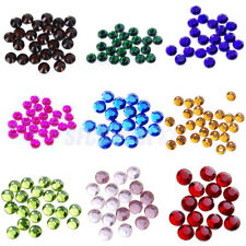 20Gross/2880PC Acrylic Faceted Round Hotfix Flatback Rhinestone 3mm U Pick Color