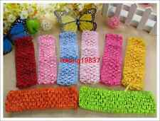 Lot 1.5 inch Wholesale Elastic Crochet Headbands Baby Girl waffle headbands