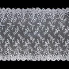 "White Black Floral Eyelash Lace Fabric TRIM DIY Sewing Crafts Clothing 59"" x 43"""