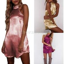 Lady Sexy Sleeveless Party Clubwear Cocktail Women Summer Beach Short Mini Dress