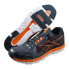 Reebok Mens Dual Turbo Running Trainers J96040 Gravel/Orange UK 10.5
