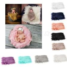 Newborn Baby Soft Photography Photo Props Infant Backdrop Throw Wool Blanket Rug