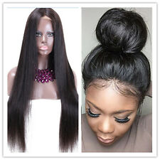 """Hot Cheap Full Lace/Lace Front Human Hair Wigs Brazilian silky straight 8""""-22"""""""