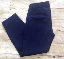 NWT J. CREW MINNIE PANT STRETCH TWILL #18850 NAVY select sizes cropped fitted
