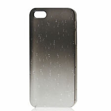 3D Raindrop Water Drop Hard Back Cover Case Gray Clear for Apple iPhone 5 5S/ SE