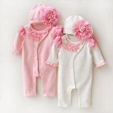 Newborn Baby Girl Clothe Lace Floral Infant Princess Jumpsuit Baby Cotton Romper