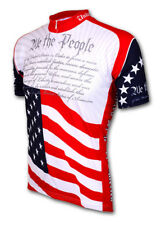U.S. Constitution Cycling Jersey by World Jerseys Short Sleeve Mens