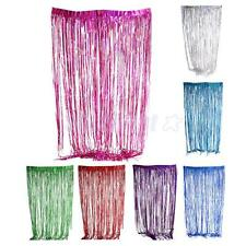 Metallic Fringe Backdrops Window Tinsel Foil Curtain Wedding Party Decoration