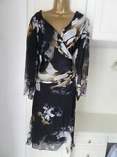 GORGEOUS LINED 100% SILK DRESS BY DAMSEL IN A DRESS IN VG CON SIZE 16 BUST 40