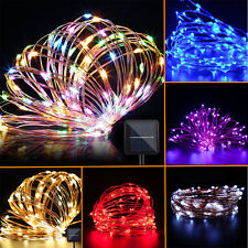 10M/15M/20MSolar Powered Copper Wire LED String Fairy Light Party Christmas Lamp