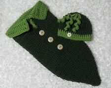 Handmade Crocheted 0-3 months Pea in a Pod Cocoon and hat set - photo prop