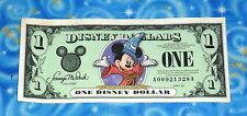 Disney Dollars One Dollar Bill 2001 Series Mickey Mouse The Sorcerers Apprentice
