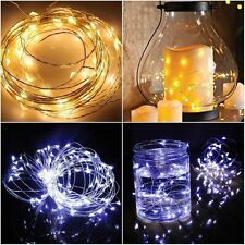 10/20//100 LED Battery & Plug Micro Rice Wire Copper Fairy String Lights Party