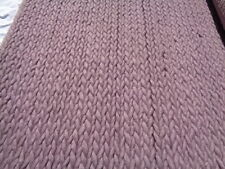 JOHN LEWIS CABLE RUG IN CASSIS SIZE 180CM X 120CM 80% WOOL 20% COTTON