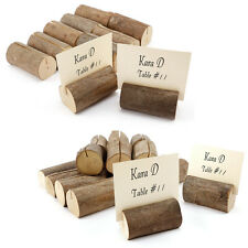 Wooden Wedding Table Number Stand Place Name Memo Card Holder