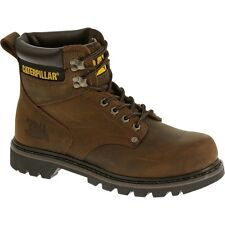 Mens CATERPILLAR Brown Second Shift Leather Work Boot P72593 Size 5-14 (D, M)