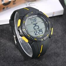 Multifunction Sports Dual-time Pulse Heart Rate Monitor Watch w/Chest Strap S8F6