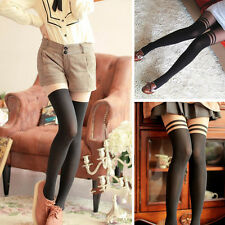 New Sexy Women Girl Temptation Sheer Mock Suspender Tights Pantyhose Stockings