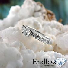 14k White Gold Engagement Ring 1.09 CT Real Diamond (SI, F-G) Size 6 Enhanced