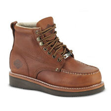 "Mens Light Brown 6"" Mocc Toe Leather WP Work Boots BONANZA 630 Size 6-12 (D, M)"