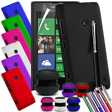 HARD BACK SKIN CASE COVER, LCD FILM, STYLUS PEN & SPEAKER FOR NOKIA LUMIA 520