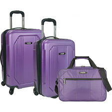 U.S. Traveler Bloomington 3-Piece Carry-On Spinner Set Luggage Set NEW