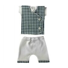 Baby Boys' Blue Checkered Vest Shorts 3 Piece Clothing Set Preemie & Newborn