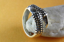 DRAGON RING CLAWS GOTHIC SILVER RING 925 SILVER 324