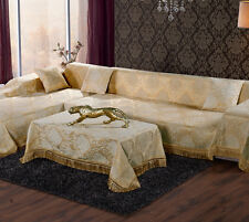 Removable Soft Thick Chenille Fabirc Couch Sofa Cover Protector For 1 2 3 Seater