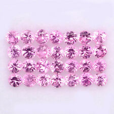 BEAUTIFUL LOT! 1.06CT/28p ROUND 1.9mm TOP DIAMOND CUT NATURAL PINK SAPPHIRE #4