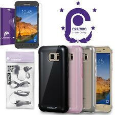 Fosmon Galaxy S7 Active Slim Case Screen Protector Film Wall Car Charger Bundle