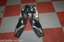 RICHA MENS SILVER BLACK WHITE MOTORCYCLE MOTORBIKE LEATHER TROUSERS SIZE UK 36