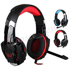 3.5mm Stereo Gaming Headphone USB Computer Game Headset with Mic LED Light Lot