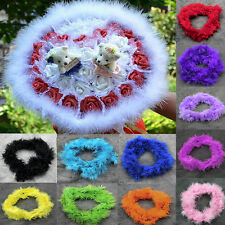 2M Thick Marabou Feather Boa Various Colors For Fancy Dress Party Burlesque Boas