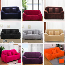 Thick Plush Sofa Couch Slip Cover Colorful Stretch Sofa Cover For 1 2 3 4 Seater