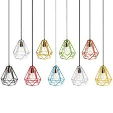 Industrial Metal Diamond Loft Bar Pendant Ceiling Fixture Light Lamp Bulb Cage
