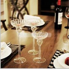 Glass Candle Holder Candlestick Tealight Wedding Party Dinner Table Gift Decor