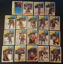 1983-84 OPC VANCOUVER CANUCKS Select from LIST NHL HOCKEY CARDS O-PEE-CHEE
