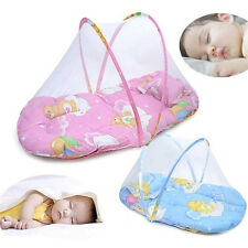 Foldable Portable Infant Baby Mosquito Net Crib Bed Tent with Pillow Fashion