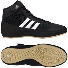 Adidas HVC Laced Youth Wrestling Shoes - Black/White