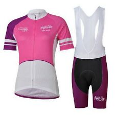 New Cycling Women Wear Bike Bicycle Short Sleeves Jersey Bib Shorts sets S-2XL
