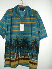 NWT size S M L XL 2X HAWAII BEACH & SURFBOARDS HAWAIIAN SHIRT by SUN MOON