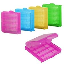 1-10X Economic Plastic Translucent Case Holder Storage Box for AA AAA Battery HF